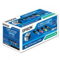 Картридж (комплект) Epson AcuLaser C1100/CX11N/CX11NF (O) C13S050268, BK,С,M,Y